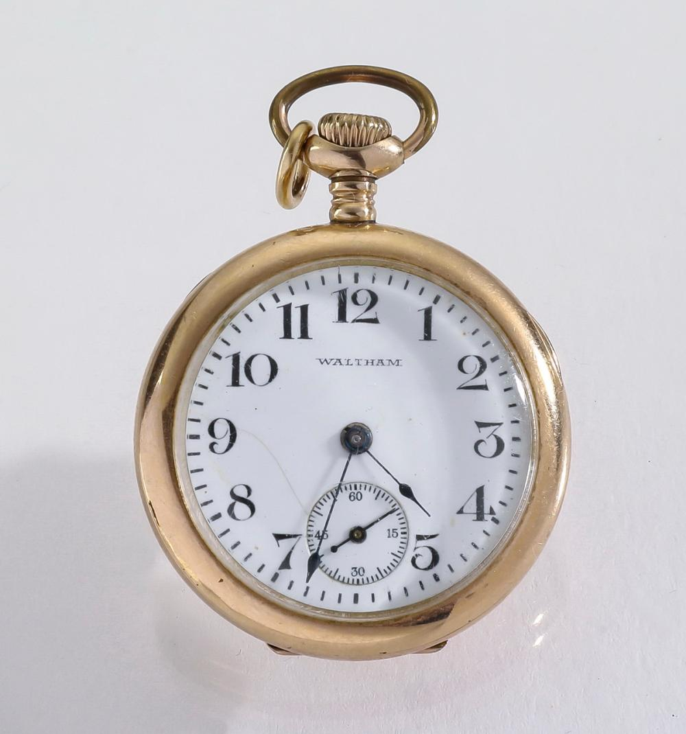 Waltham gold filled pendant watch, c. 1884