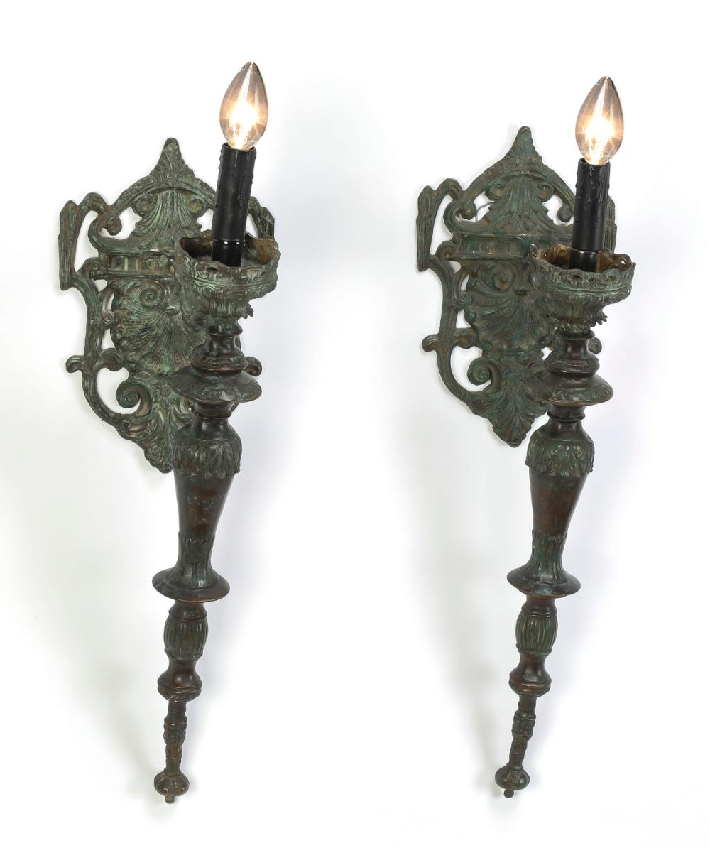 (2) Gothic Revival style wall sconces