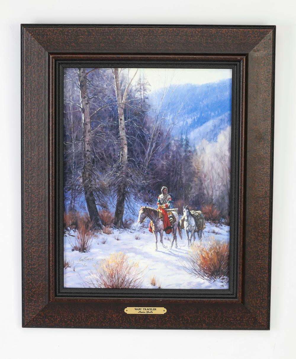 Martin Grelle signed, numbered Native American giclee
