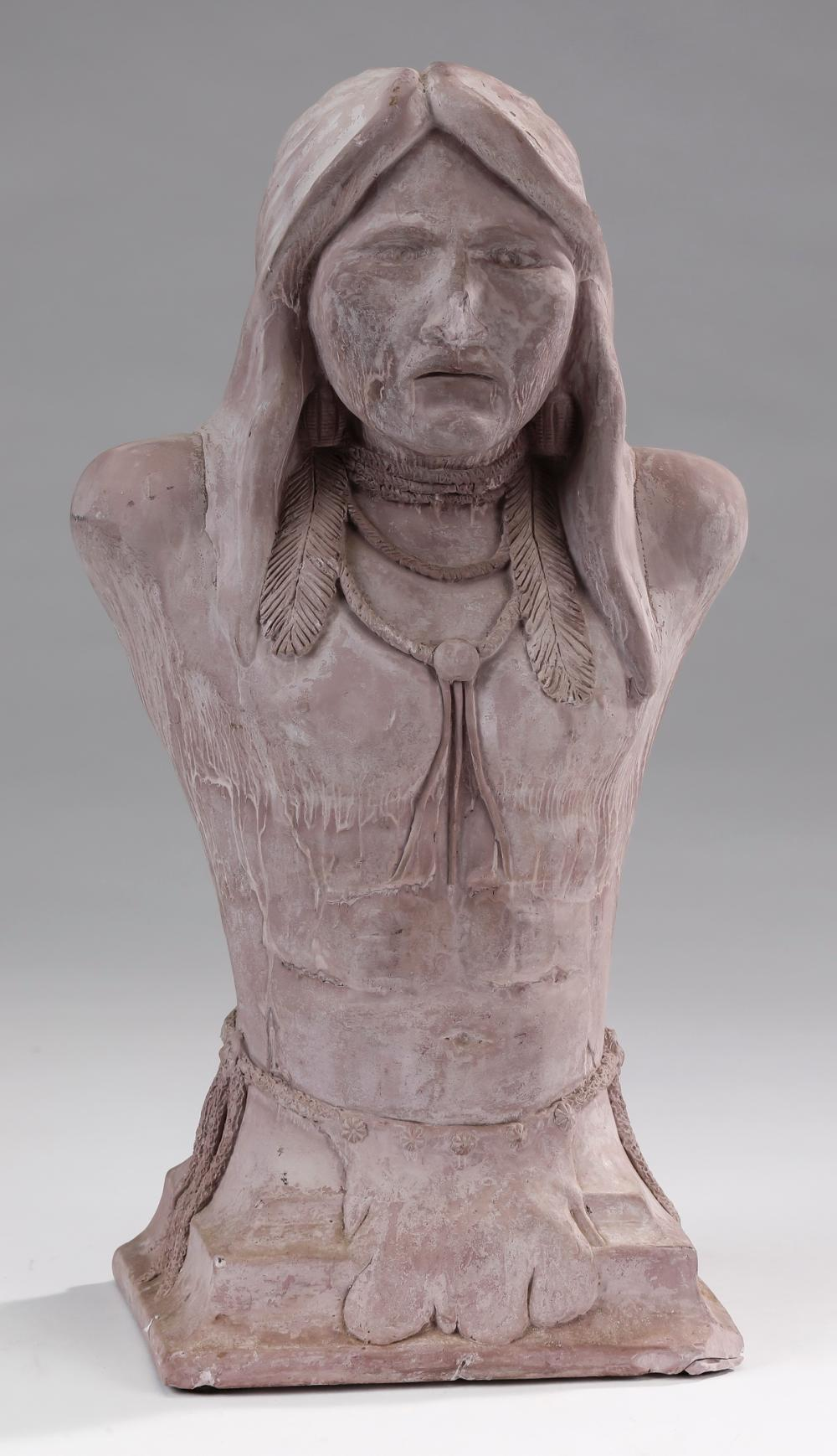 Silas Smith, 'The Walker' Native American sculpture