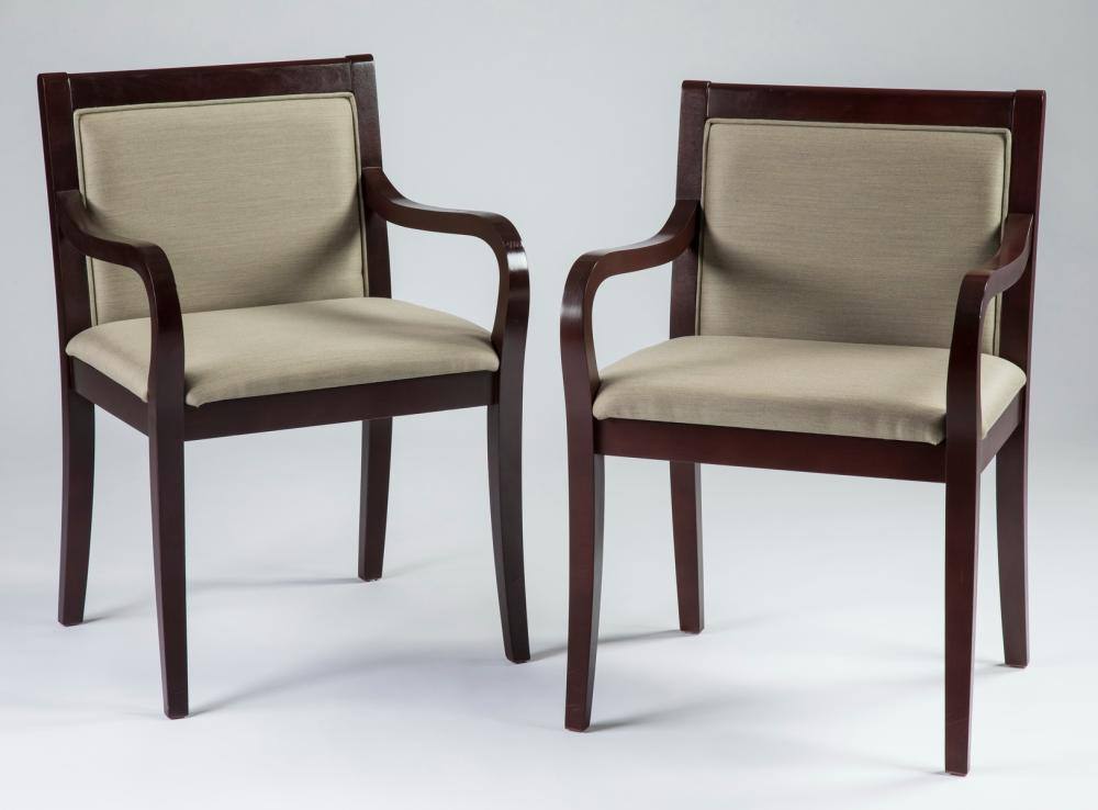 "Pair of Steelcase 'Topaz' open armchairs, 33""h"