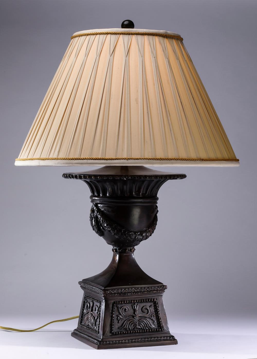 Maitland-Smith Neoclassical style metal table lamp