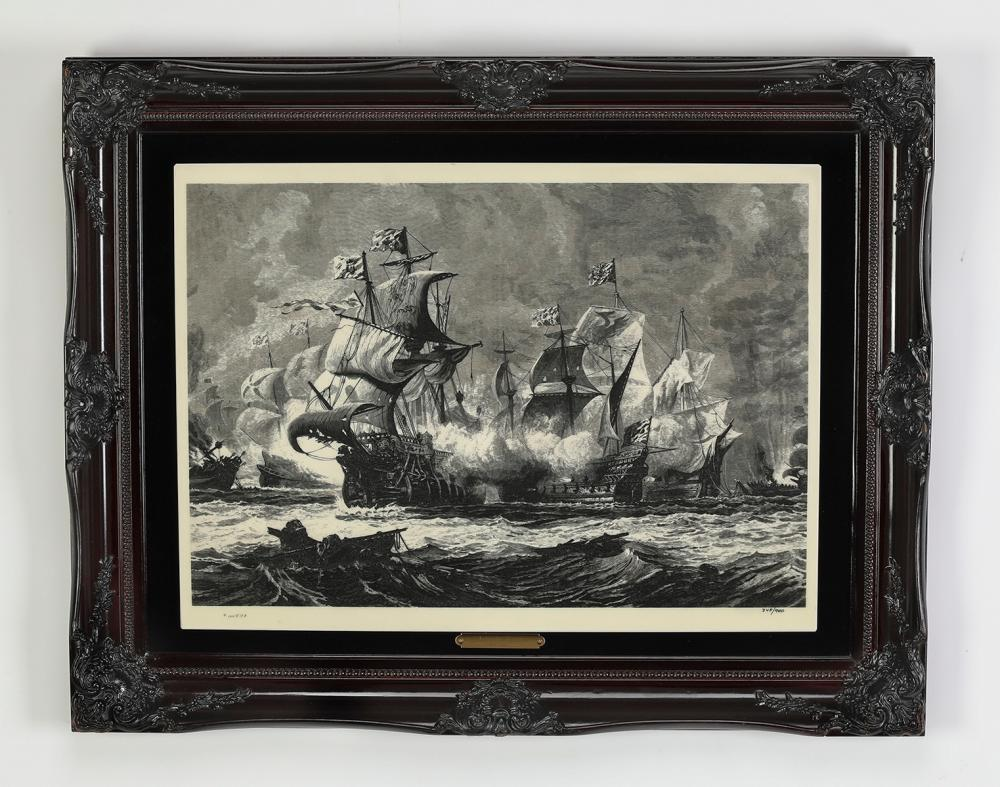 After Oswald Walters Brierly,  'Armada Battle'