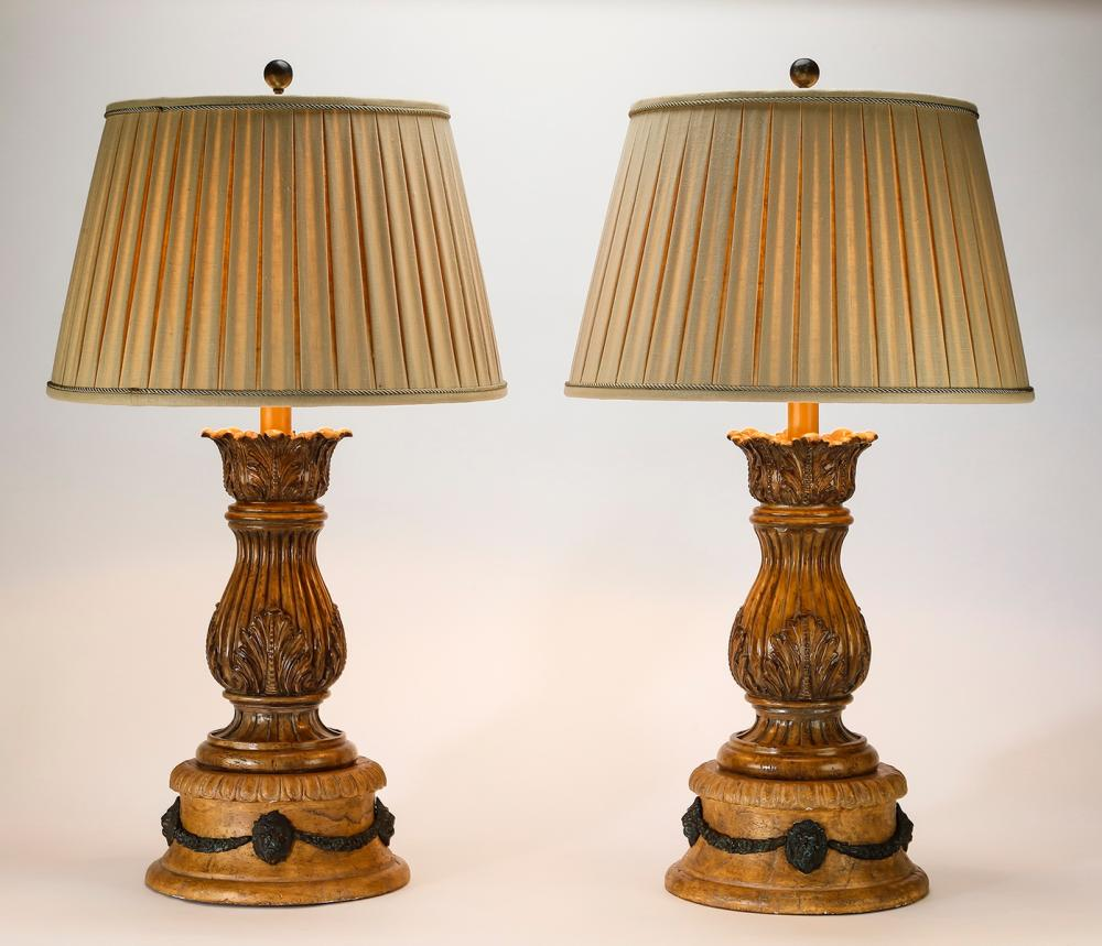 Pair of Maitland-Smith Neoclassical style table lamps