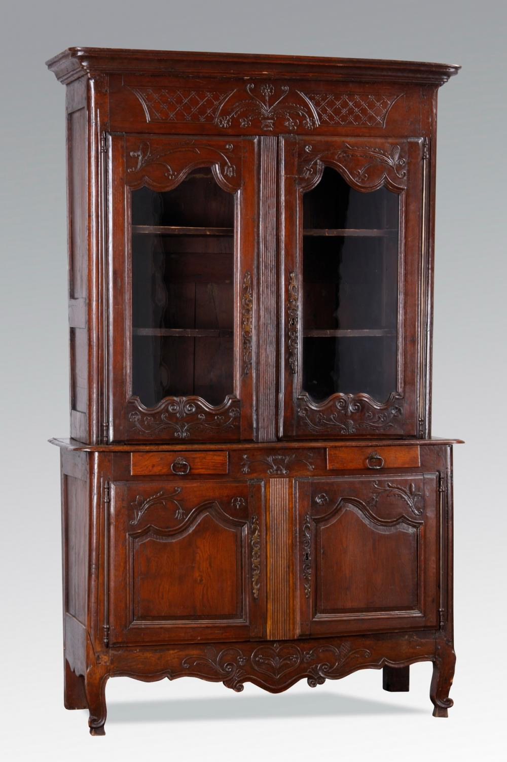 18th c. French carved oak buffet