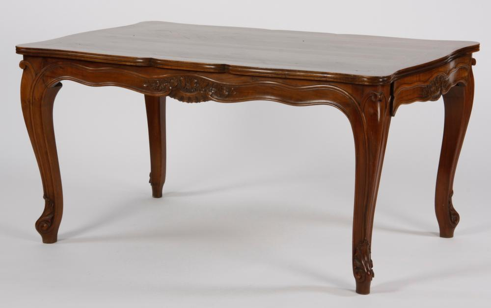 French Provincial style parquetry top table