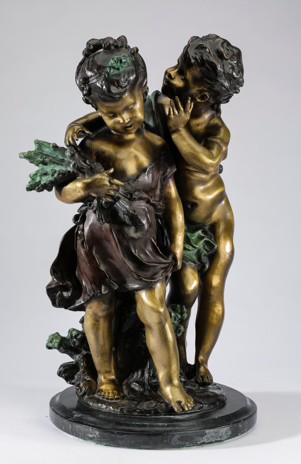 Bronze sculpture in the manner of Auguste Moreau