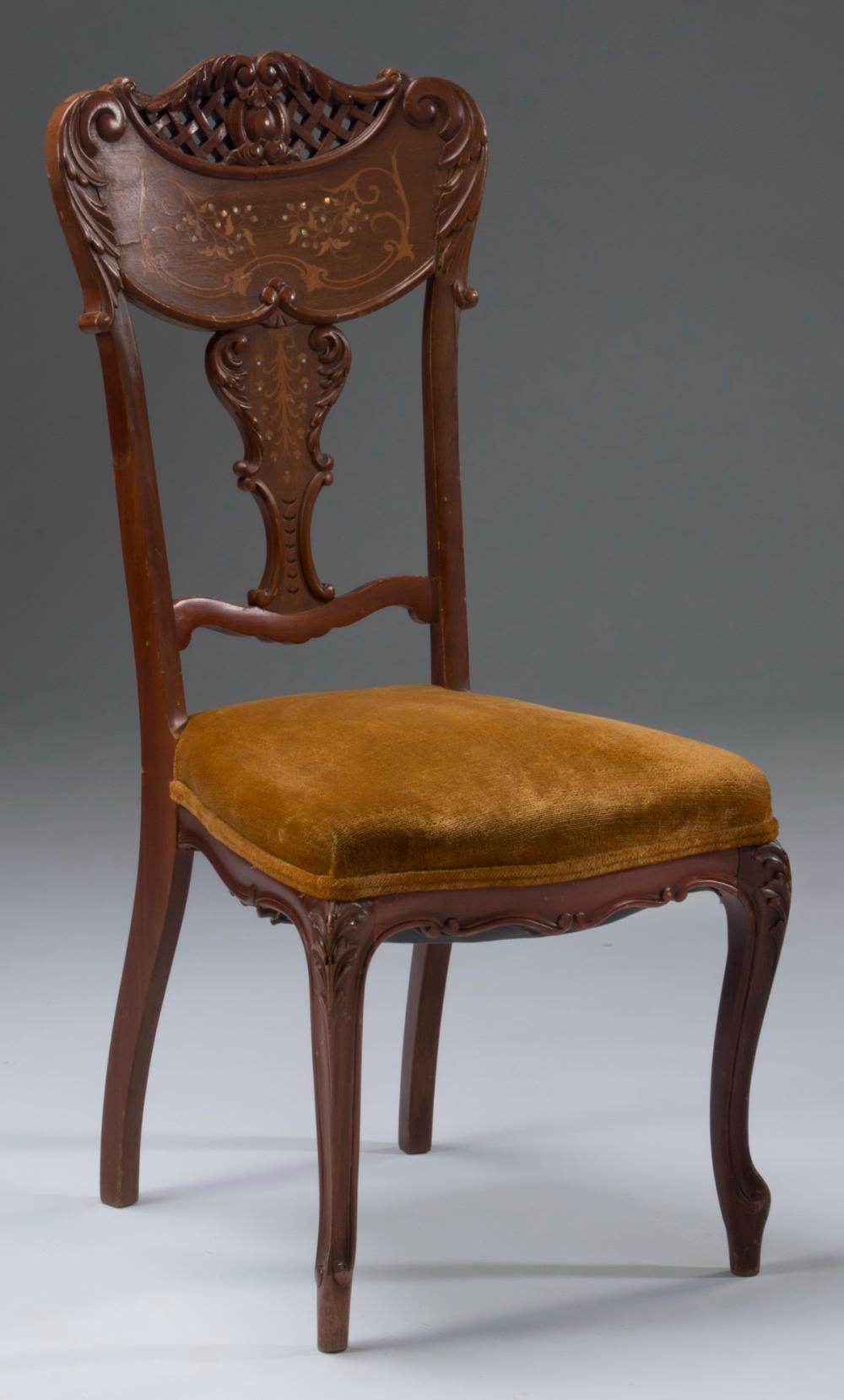 "Diminutive Louis XV inspired side chair, 36""h"