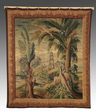 19th c. Continental hand woven tapestry, 85
