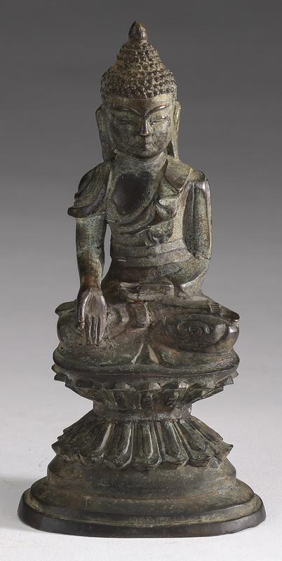 Burmese bronze Buddha of charity