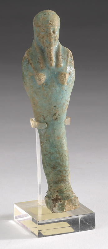 Ancient Egyptian faience ushabti w/ false beard