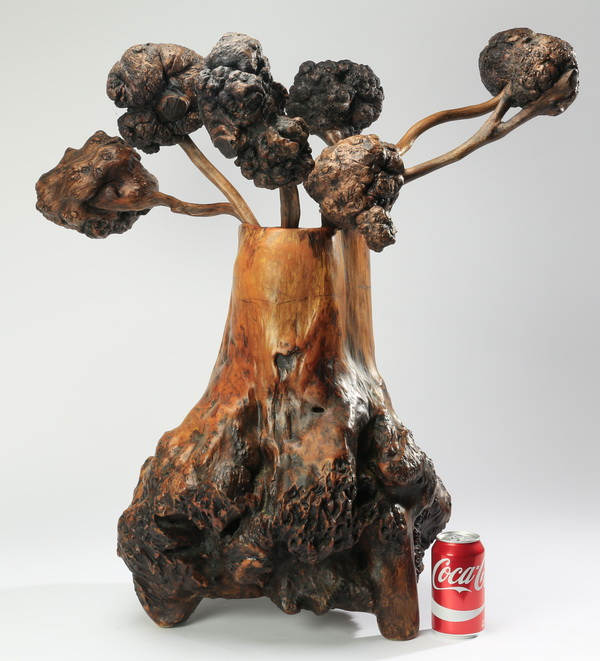 Contemporary hardwood root sculpture, 25