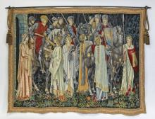 Contemporary tapestry 'The Arming of the Knights'