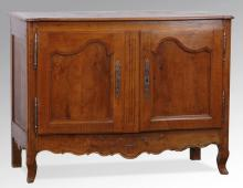 18th c. French carved walnut buffet