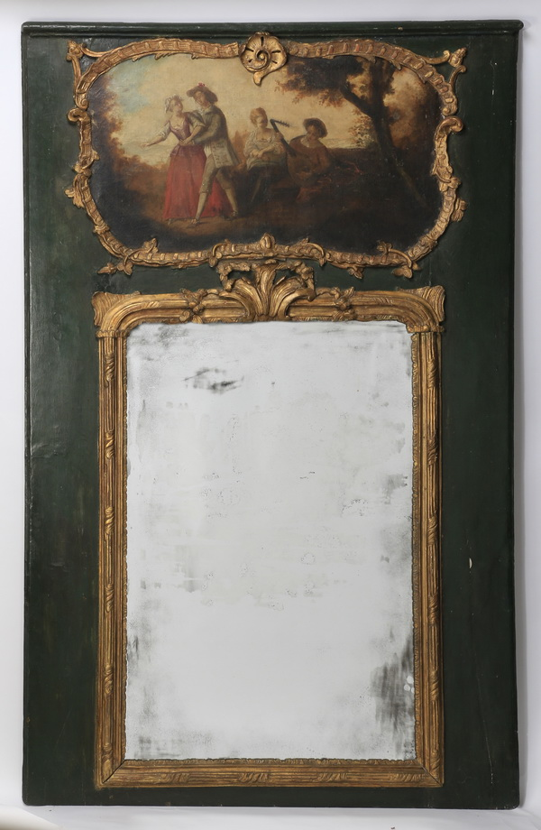 19th c. Neoclassical style trumeau mirror
