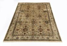 Hand knotted wool Afghan Khotan rug, 12 x 9