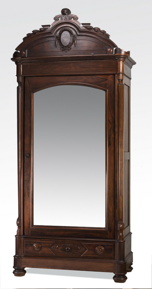 19th c. American rosewood armoire, 112