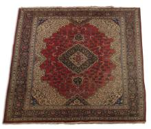 Hand knotted Persian wool rug, 11 x 15