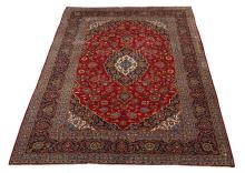 Persian Kashan hand knotted wool rug