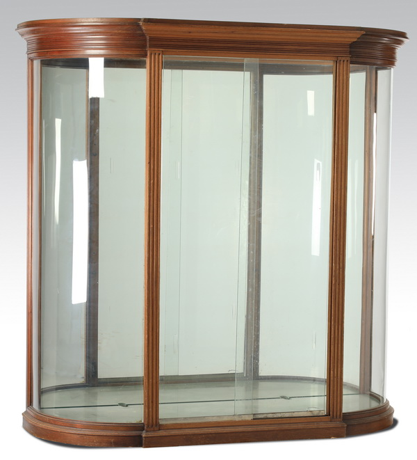 19th c. French Empire style serpentine vitrine, 69