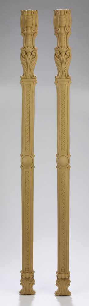 (2) Unfinished wood architectural pilasters, 41