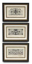 (3) Signed French architectural engravings