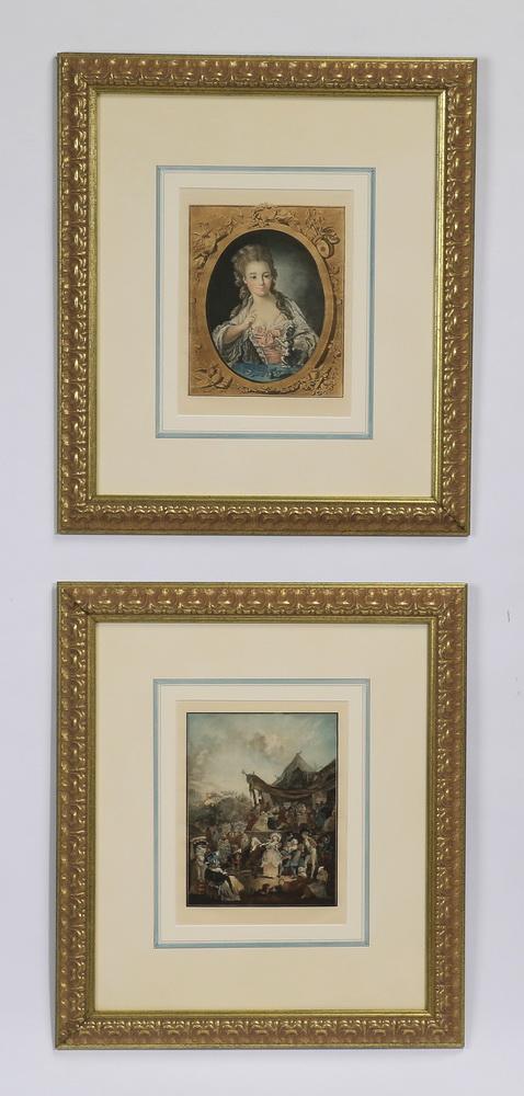 (2) French mezzotints after Watteau, 22