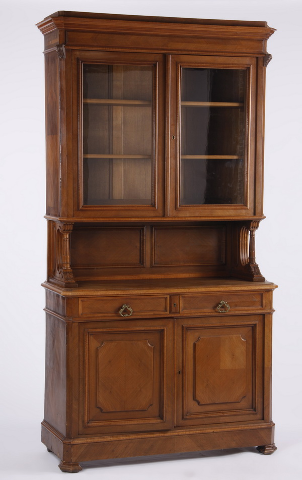 19th c. French carved walnut cabinet, 94