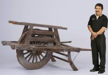 Early 20th c. Asian hand cart