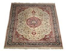 Hand-knotted Sino-Isfahan wool rug, 12 x 9