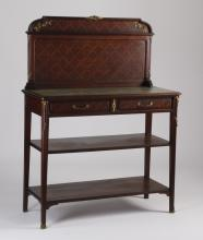 French bronze mounted parquetry inlaid server