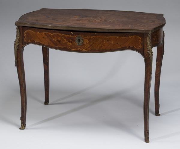 19th c. marquetry inlaid ladies writing desk, 39