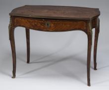 19th c. marquetry inlaid ladies writing desk, 39
