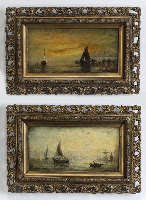 (2) 19th c. English Maritime O/c of ships, signed
