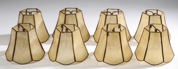 (6) Capiz shell chandelier shades