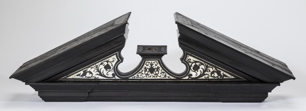 19th c. Neoclassical style inlaid pediment, 34