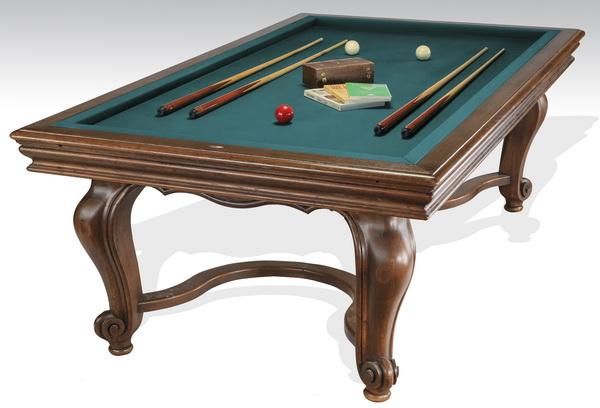 19th c. French mahogany carom billiard table