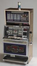 Vintage coin-op slot machine w/ tower light, 47
