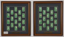 Framed collection, British cigarette cards, 'Tennis'