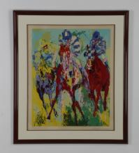 LeRoy Neiman signed, numbered serigraph, 'The Finish'
