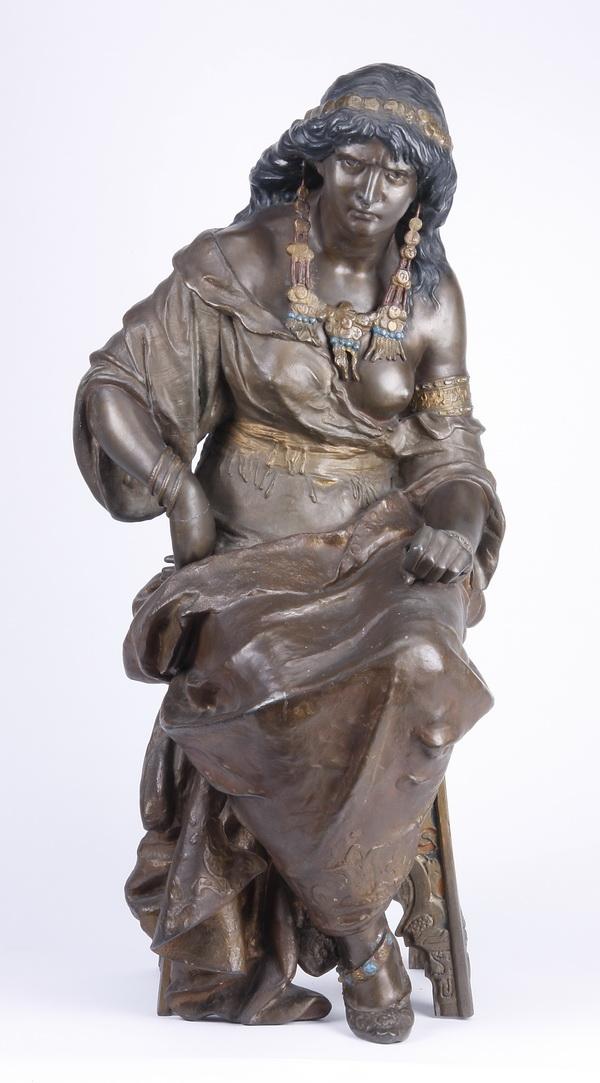 19th c. Orientalist sculpture of seated harem beauty