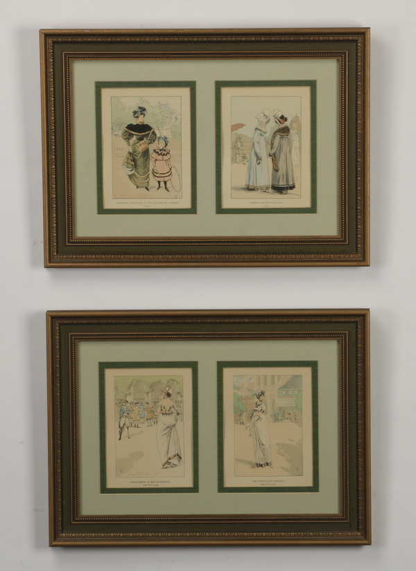 (3) 18th and 19th c. hand colored engravings