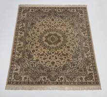 Hand knotted Sino-Isfahan wool & silk rug, 8 x 10