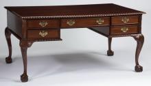 Federal style mahogany partner's desk, 62