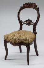 Victorian balloon-back mahogany side chair