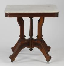 19th c. Victorian marble top side table