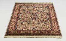 Hand knotted Sino-Tabriz wool rug, 6 x 4