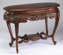 19th c. Art Nouveau style carved center table