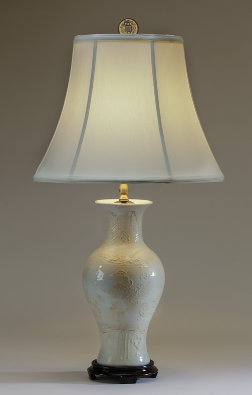 Contemporary blanc de chine Chinese table lamp