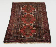 Hand knotted Persian Meshkin wool rug